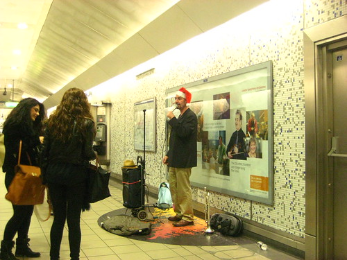 Santa Sings on the Tube
