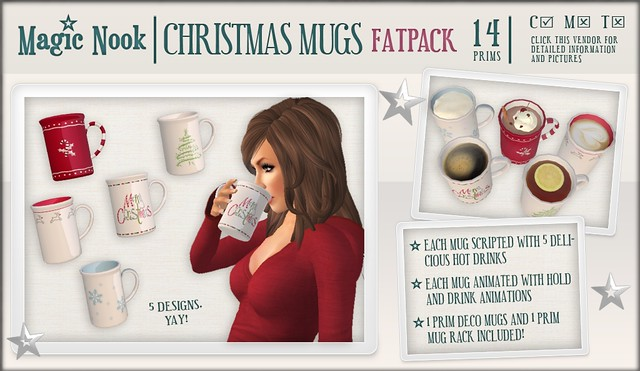 [MAGIC NOOK] Christmas Mugs (Fatpack)