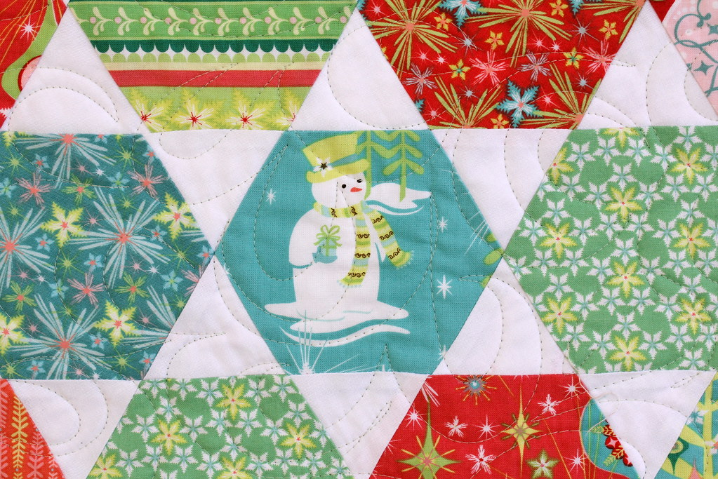 Finished quilt frosty