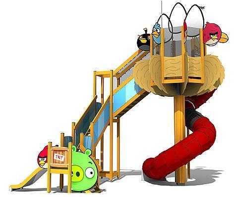 El parque de Angry Birds