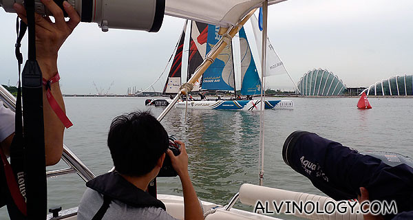 Sailing photography is serious business