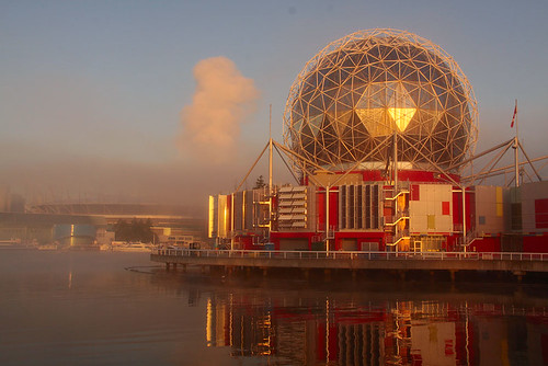 science world at dawn