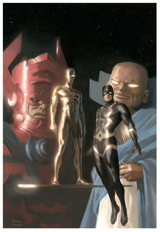 48Galactus, The Watcher, Black Bolt, and the Silver Surfer