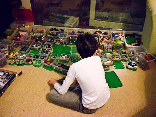 Organized Legos.