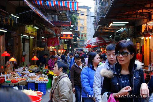 Street market in Macau