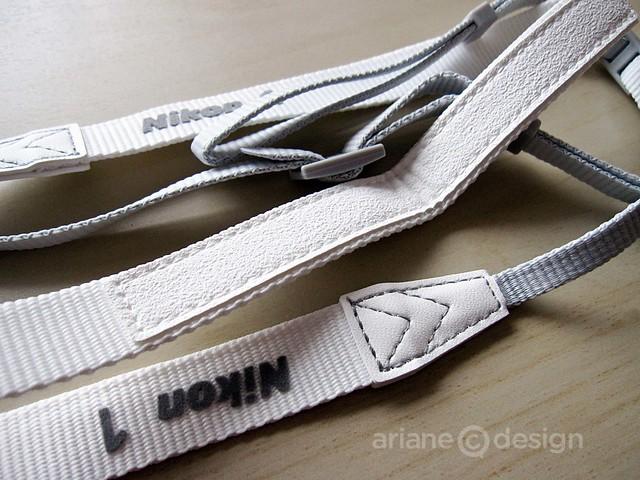 Nikon 1 white strap