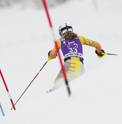 Erin Mielzynski in Courchevel slalom