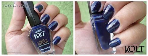 Caneta Azul e Vintage - Kolt