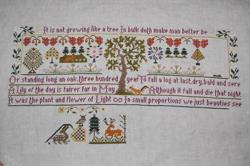 Growing Like a Tree progress (a Moira Blackburn sampler)