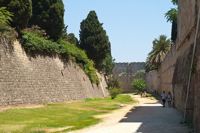Fortress in Rhodes. View between 1st and 2nd wall