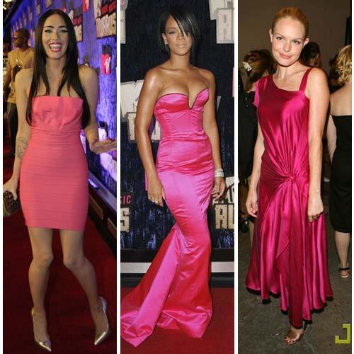 Rihanna-Megan-Kate-vestidos-rosa