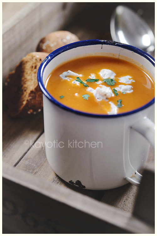 Roasted Tomato & Vegetable Soup