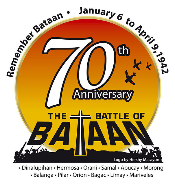 70th logo battle of bataan 1942 we will never forget