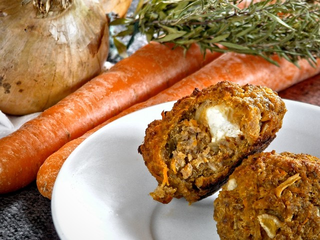 Feta-Filled Carrot Meatballs