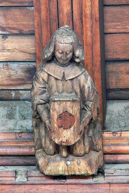Apostle Medieval wooden corbel