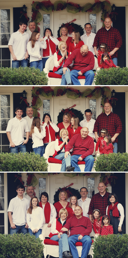 riles family laugh collage