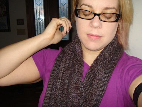 Eternity  Scarf in Malabrigo Pearl Ten