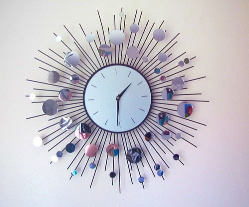 starburst clock with mirrors