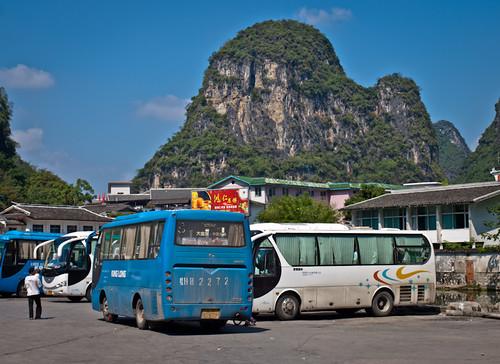 Autobuses locales en China