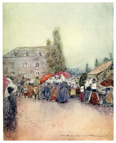 014-Un dia lluvioso en la feria-Brittany 1912- Mortimer y Dorothy Mempes