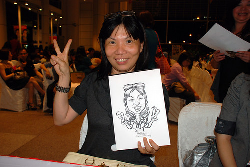 caricature live sketching for kidsREAD Volunteer Appreciation Day 2011 - 12