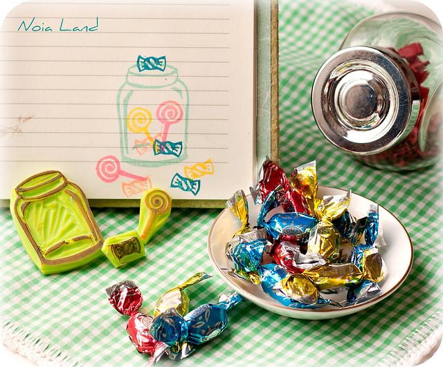 El bote de los caramelos