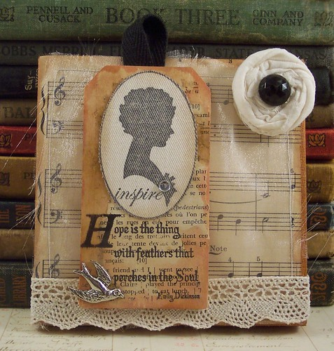 Emily Dickinson Hope Mixed Media Collage