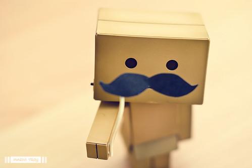 danbo moustache mania