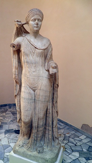 The Empress Sabina (wife of Hadrian), as Venus Genetrix, Ostia Antica, Italy