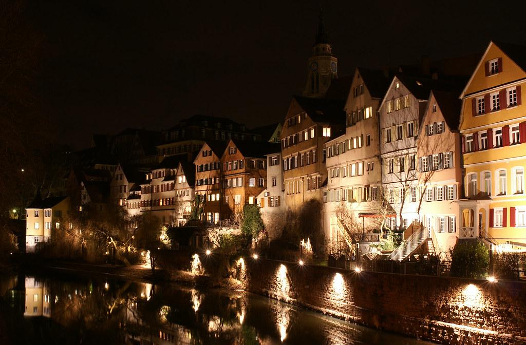 Tübinger Neckarfront mit Hölderlinturm