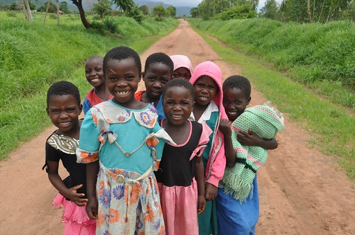 School girls on the way to Livingstonia