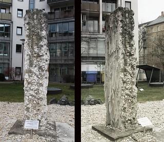 Stele Kalkstein Windrose 1998 von Albin Forbig