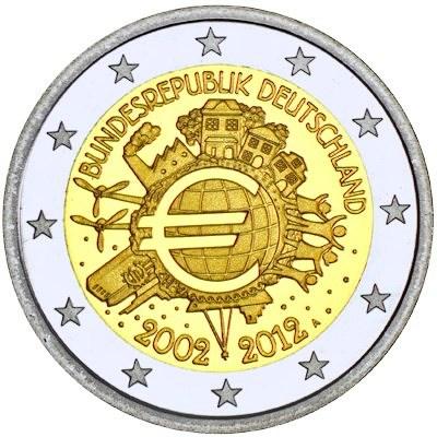 2 Euro Nemecko 2012, 10. výročie zavedenia Eura