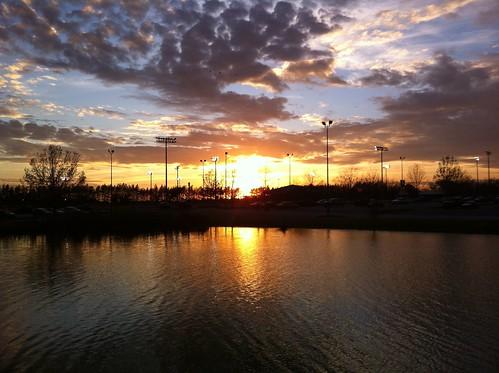 sunset lake clouds georgia statesboro iphone georgiasouthernuniversity
