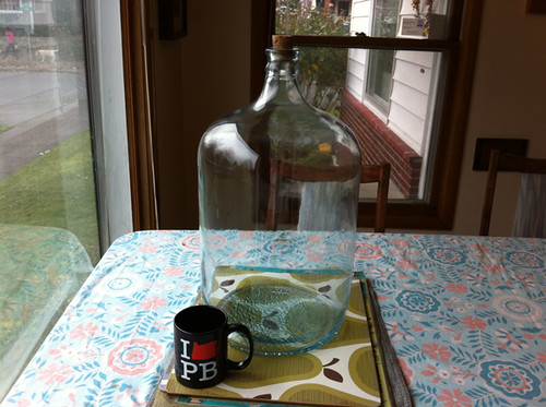 the birthday bottle (with coffee cup for scale)...