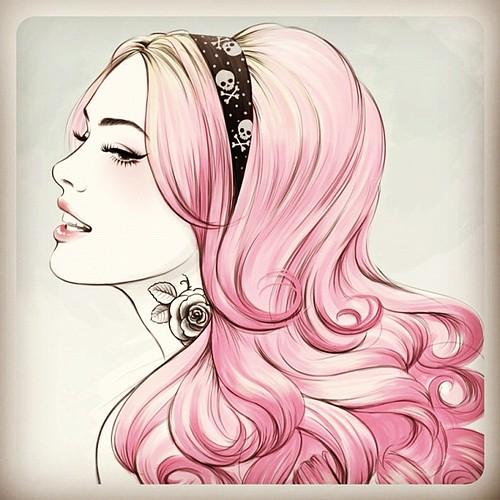Pink dye! sketch