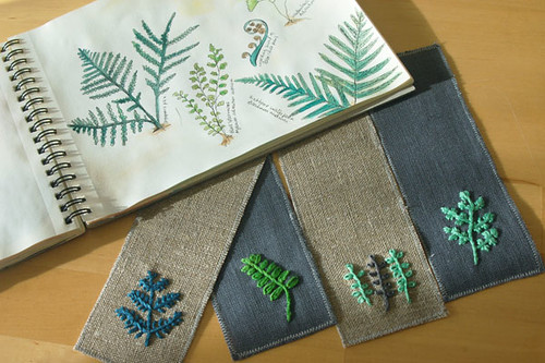 Fern bookmarks