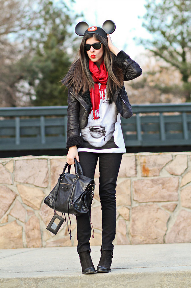 Balenciaga Arena Classic City, Angelina Jolie, Topshop, Skinny Jeans, Fashion outfit