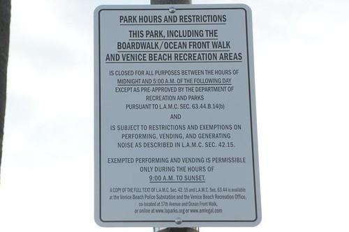Venice Beach Park Hours