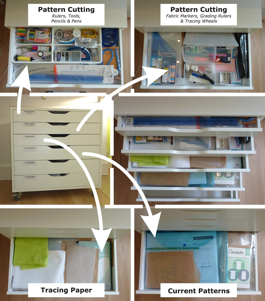 Inside the finished ALEX Drawer Unit
