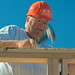 Bob building a Habitat for Humanity house in Tucson (105mm / 157mm; 1/125; f/16)