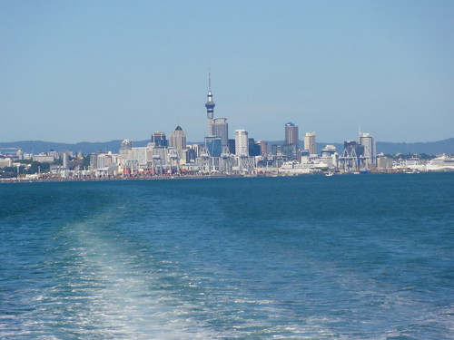 View of Auckland from Waiheke ferry