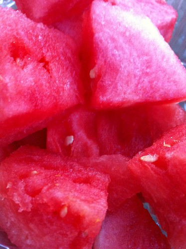 Watermelon chunks from Chevy Chase Supermarket