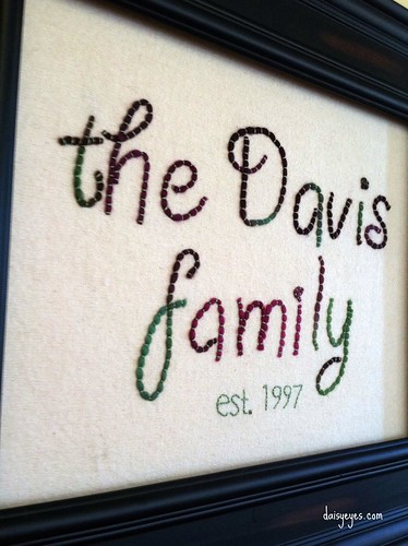 family plaque (stitchalong 1-12)