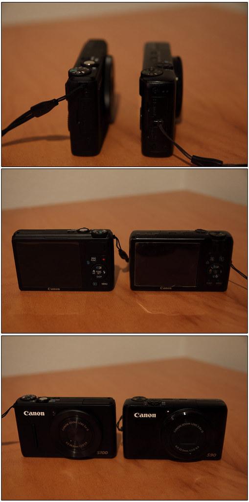 Vergleich Canon S90 - S100