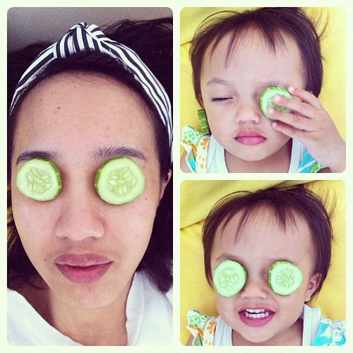 Pampering ourselves with homemade facial mask