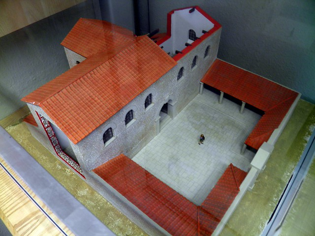 Model of the Headquarters building, early 3rd century AD, Arbeia Roman Fort & Museum