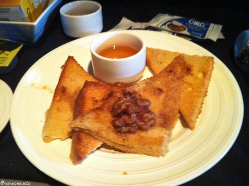 Café da manhã na executiva da Copa Airlines