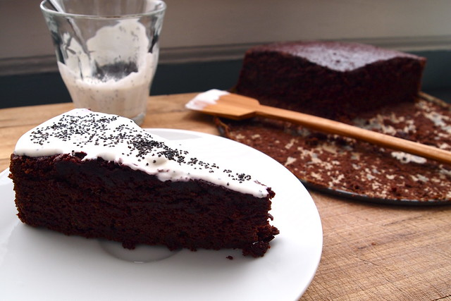 An afternoon slice of chocolate-beet cake