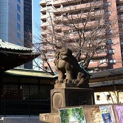 狛犬探訪 明治三十三年八月 石工中村勝五郎の銘